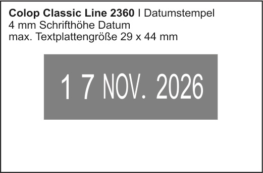 Colop Classic Line 2360  | Datumstempel + Text