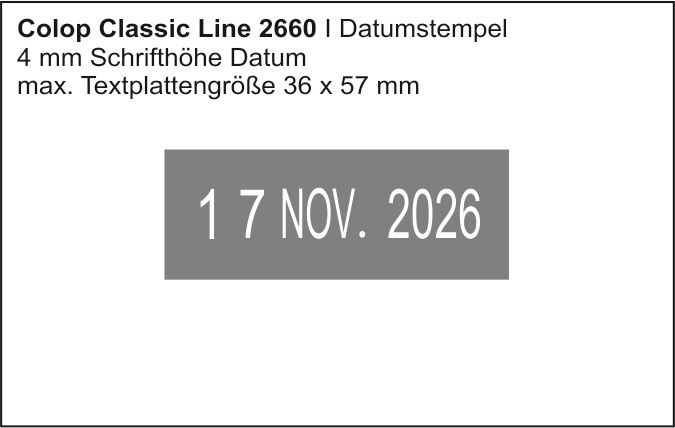 Colop Classic Line 2660 | Datumstempel + Text